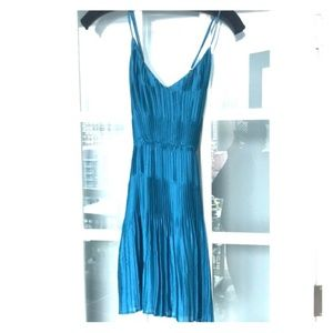 Greylin Blue Pleated dress size Small